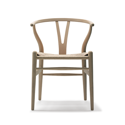 Carl Hansen & Son CH 24 Wishbone Chair with Soap Finish Y 字椅 皂裝款 - 原色紙纖座椅