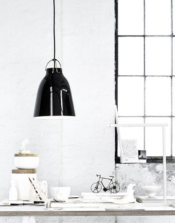 Lightyears Caravaggio Black Black Suspension Lamp P3 卡拉瓦喬 中型吊燈 黑色吊線款