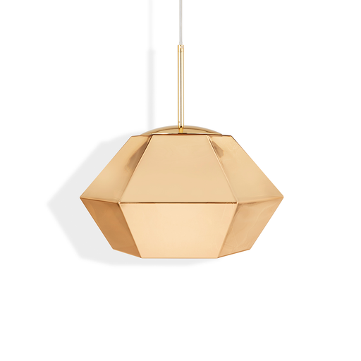 Tom Dixon Cut Short Suspension Lamp in Gold 44cm 晶鑽切割系列 吊燈 - 短款 金色款