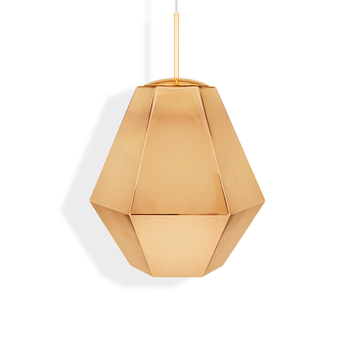 Tom Dixon Cut Tall Suspension Lamp in Gold 50cm 晶鑽切割系列 吊燈 - 高挑款 金色款