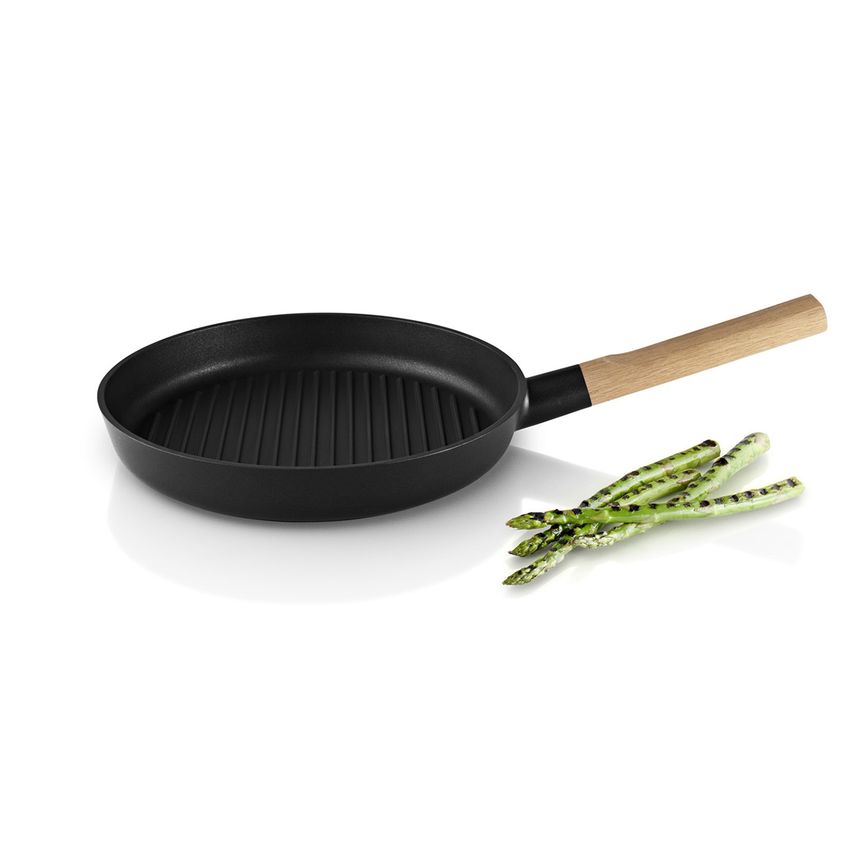 Eva Solo Nordic Kitchen Grill Frying Pan 28cm 自然歐風系列 木柄 橫紋煎鍋