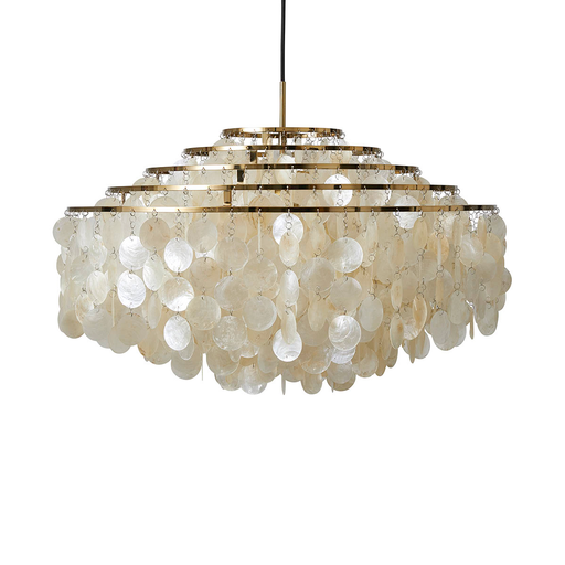 Verpan Fun 11DM with Brass Finish Suspension Lamp 珍珠母貝 五環吊燈 - 黃銅特別版