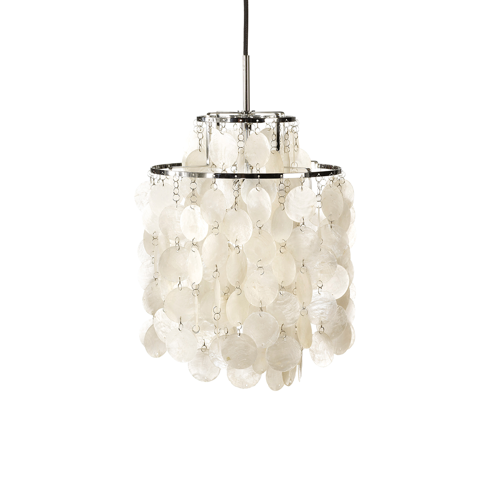 Verpan Fun 2DM Suspension Lamp 珍珠母貝 雙環吊燈