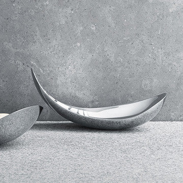 Georg Jensen Leaf Mirror Serving Dish in Small 喬治傑生 時尚銀葉 置物皿 小尺寸