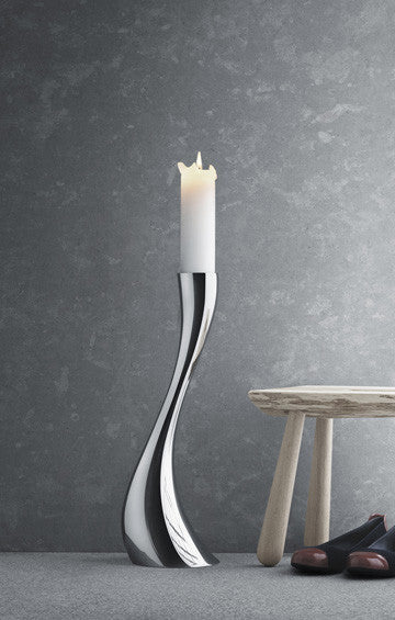Georg Jensen Cobra Floor Candleholder Medium 喬治傑生 婀娜 落地燭台 中尺寸