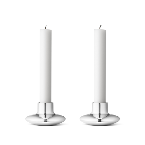 Georg Jensen Masterpieces Candle Holder 2pcs, HK 系列  喬治傑生 燭台 雙件組