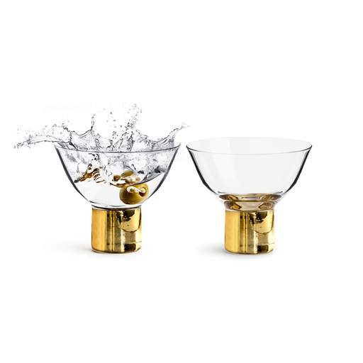 Sagaform Club Cocktail / Dessert Glass 150ml 2pcs Club Gold 金色派對系列 玻璃 雞尾酒杯 兩件組