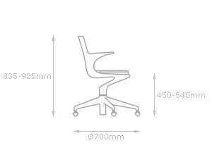 Kartell Spoon Office Chair 湯匙 辦公椅