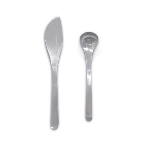 Sori Yanagi Stainless Steel Kitchen Tools Butter Knife / Spoon Set 柳宗理 不鏽鋼廚具系列 奶油抹刀 / 糖匙 兩件組