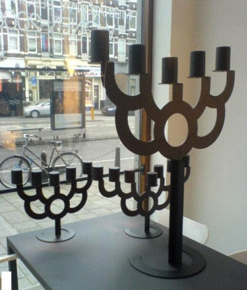 Moooi Menora Bold Candle Holder 中型黑色燭台