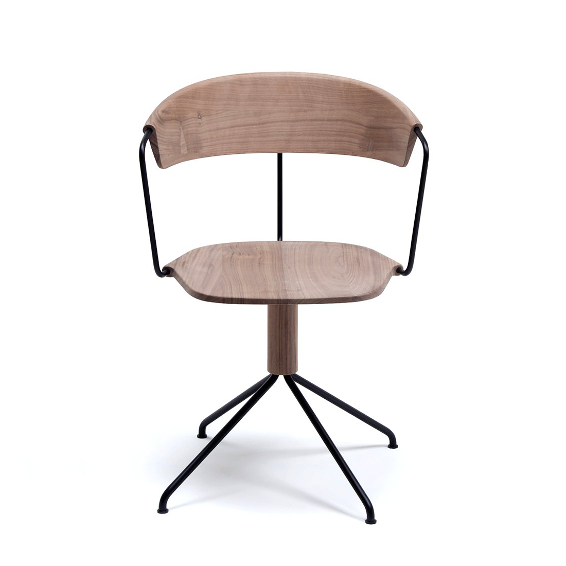 Mattiazzi MC9 Uncino Wooden Swivel Chair Version A 西諾 木質 旋轉椅 寬背版