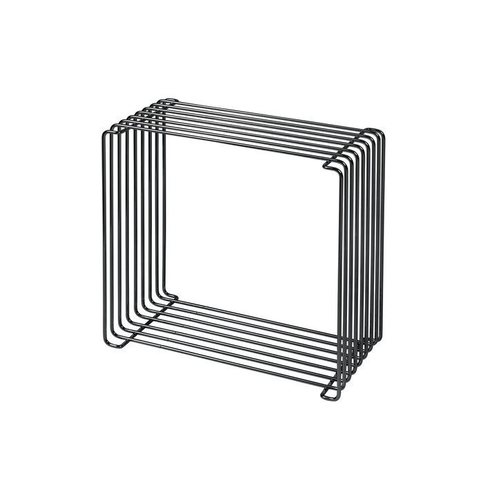 Montana Panton Wire Standard Shelf Unit / Side Table Holder Dark Chrome D20cm 潘頓系列 線條 方形壁櫃 淺版 - 黑色鍍鉻特別版