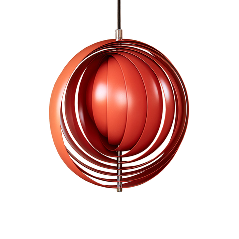 Verpan Moon Suspension Lamp in Orange 34cm 月亮 吊燈 - 橘紅特別版