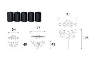 Moooi Little Bold Candle Holder 小型黑色燭台