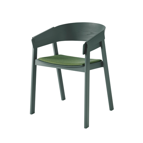Muuto Cover Chair with Fabric Seat 擁抱 木質 扶手椅 羊毛紡織坐墊款