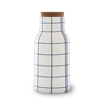 Normann Copenhagen Mormor Blue Decanter 1.2L 藍色格紋 軟木蓋 水瓶 / 酒瓶
