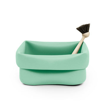 Normann Copenhagen Washing Up Bowl & Brush 方形清潔槽 / 毛刷 套組