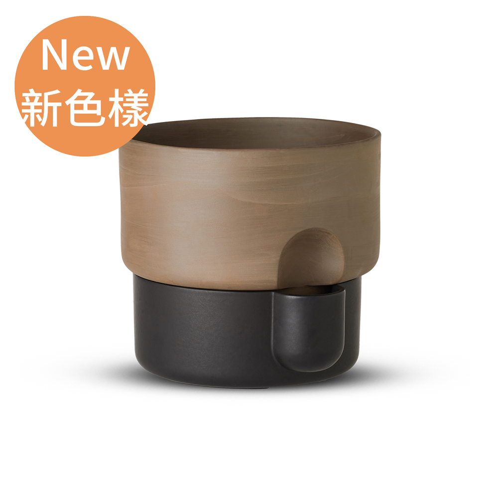 Northern Oasis Double Flower Pot in Small 15cm 綠洲系列 雙層 花盆 - 小尺寸