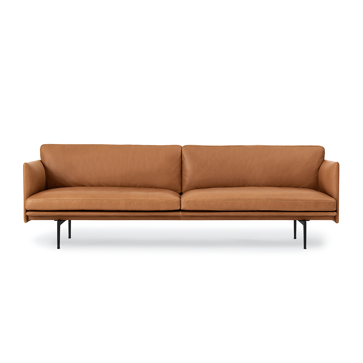 Muuto Outline 3-Seater Sofa in Leather 220cm 輪廓系列 三人沙發 皮革版