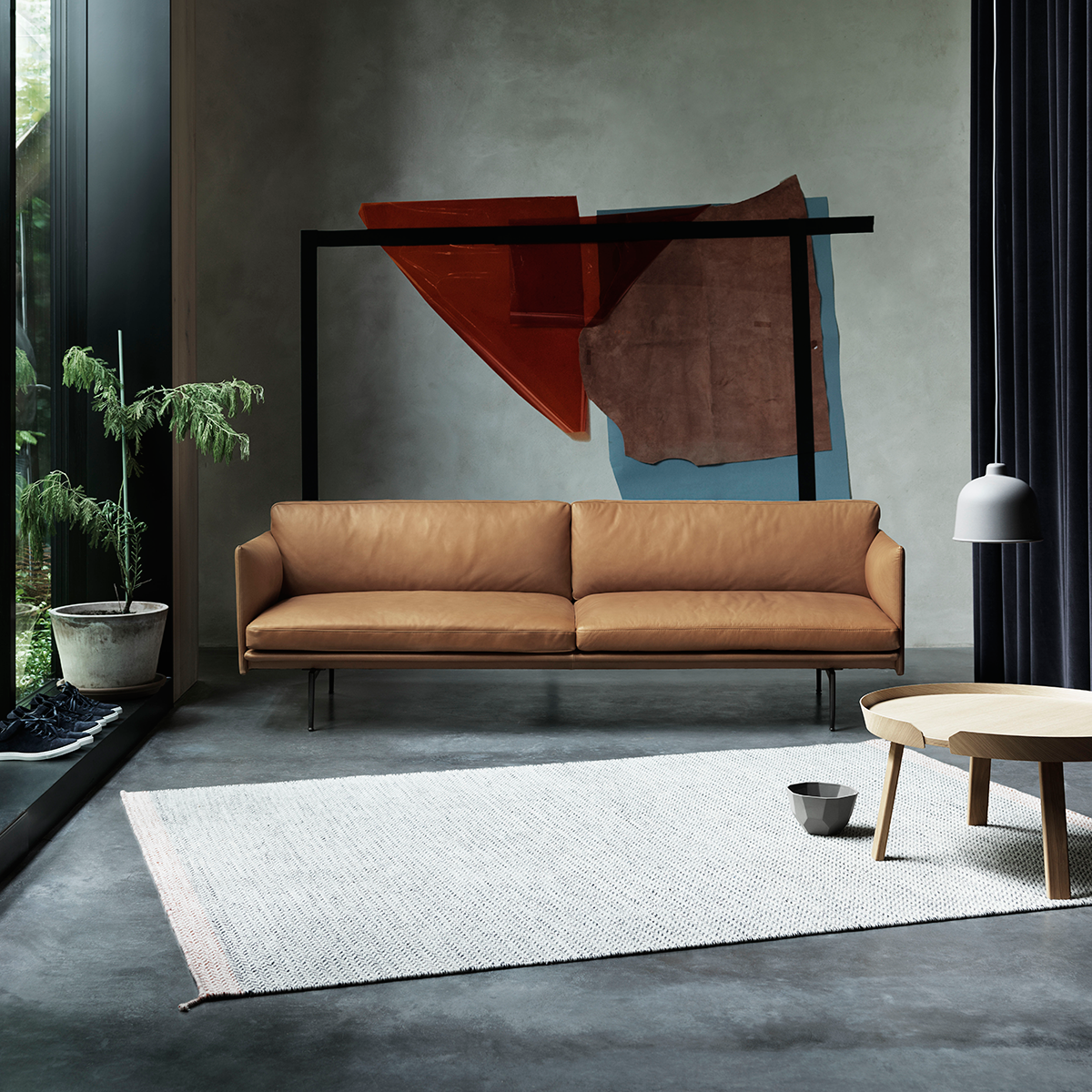Muuto Outline 2-Seater Sofa in Leather 170cm 輪廓系列 雙人沙發 皮革版