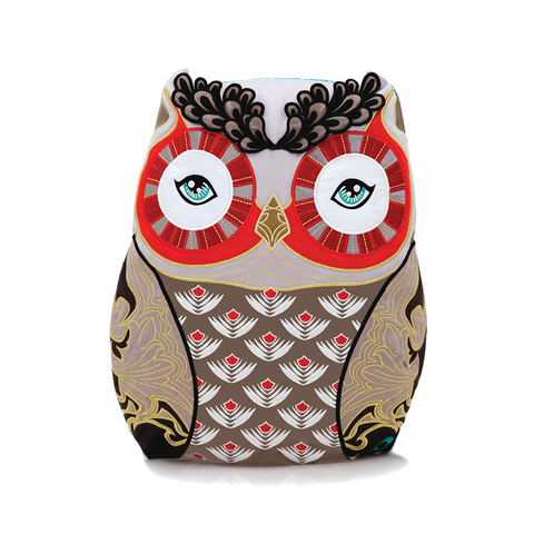 Papinee Owl Amuse Cushion 英國 貓頭鷹 抱枕