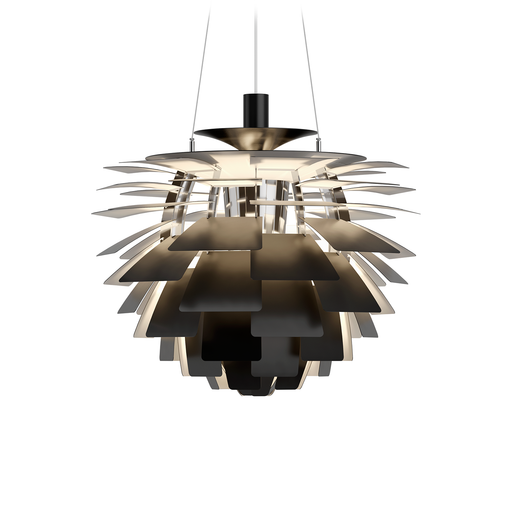 Louis Poulsen PH Artichoke Suspension Lamp Black Version 保羅漢寧森系列 葉果造型 吊燈 - 黑色版本