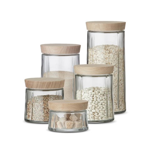 Rosendahl Grand Cru Glass Storage Jar 1.0L, GC 系列 玻璃儲物罐 橡木蓋子款