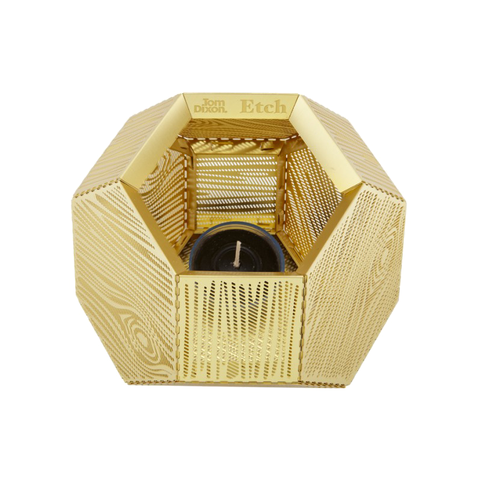 Tom Dixon Etch Candleholder Wood Pattern 蝕刻 木紋 金磚燭台