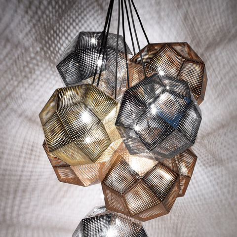 Tom Dixon Etch Shade Suspension Lamp  金磚 吊燈