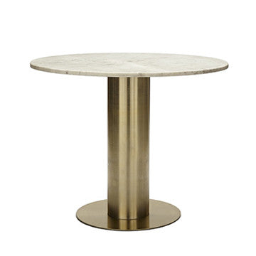 Tom Dixon Screw Table with Tube Base 螺旋 石面 圓桌
