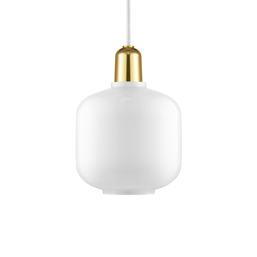 Normann Copenhagen Amp Suspension Lamp Small Brass 真空管 玻璃 吊燈 小尺寸 - 黃銅版