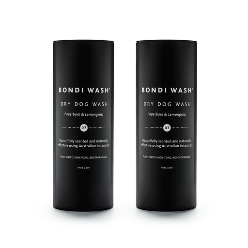 Bondi Wash Dry Dog Wash Paperbark & Lemongrass 100g, Dog Range Series 寵物系列 乾洗粉 白千層&檸檬草口味 兩件組