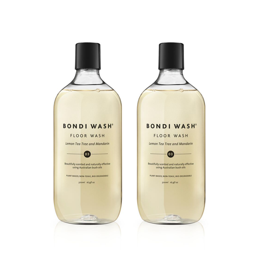 Bondi Wash Floor Wash Lemon Tea Tree & Mandarin 500ml, Floor Wash Series 地板清潔系列 地板清潔液 檸檬茶樹&柑橘 兩件組