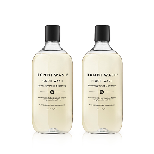 Bondi Wash Floor Wash Sydney Peppermint & Rosemary 500ml, Floor Wash Series 地板清潔系列 地板清潔液 雪梨薄荷&迷迭香口味 兩件組