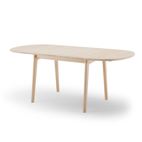Carl Hansen & Son CH 002 Dining Table with Oil Finish 188x90cm 原木 可延伸 弧形 餐桌 油裝處理