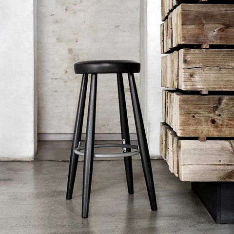 Carl Hansen & Son CH 56 / 58 Barstool with Lacquer Finish 原木 高腳椅系列 黑色漆裝處理