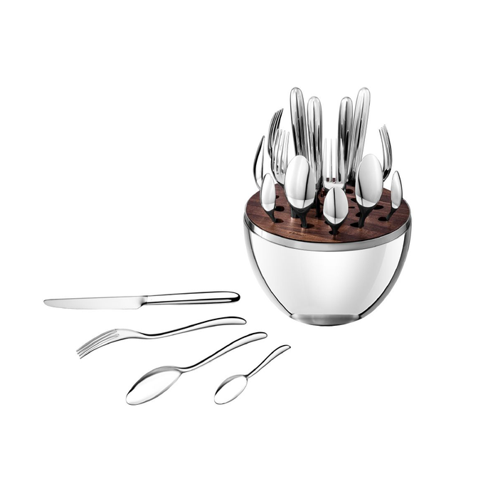 Christofle Mood 24 Flatware Pieces Set in Silver Plated for 6 People 銀色彩蛋 銀質餐具 六人份套組