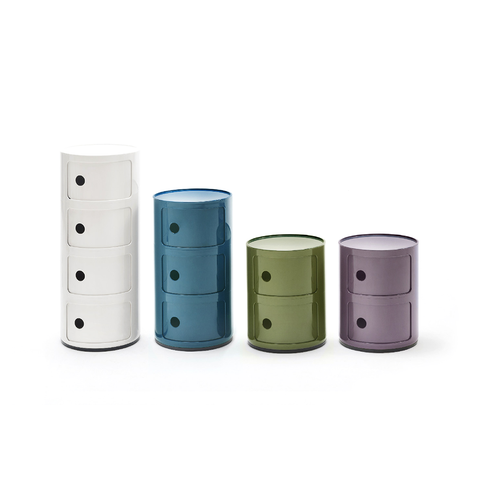 Kartell Componibili Round Storage System 32cm in 4 rooms 經典圓形 四層 收納櫃  - 新漾色系列