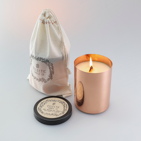 Eclectic 100% Artisan Soy Candle Bamboo + Musk, Luxury Collection 奢華系列 紅銅 澳洲香氛蠟燭 - 竹香 + 麝香