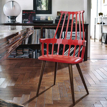 Kartell Comback Chair with Wooden Legs 復古搖籃 扶手椅