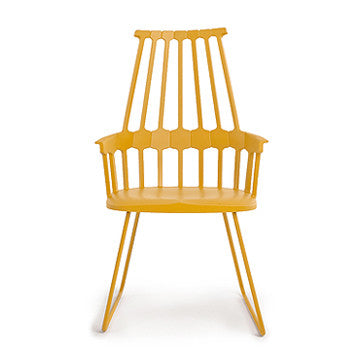 Kartell Comback Chair with Sled Base 復古搖籃 扶手椅 金屬椅腳