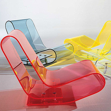 Kartell LCP Chaise Longue Chair 透明彩帶 休閒椅