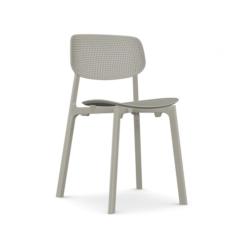 Kristalia Colander Stackable Chair Single-color 濾網 可堆疊 單椅 單色版