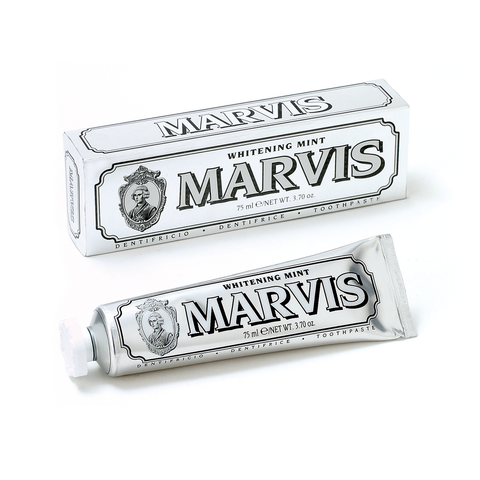 Marvis Mint Toothpaste Whitening 75ml 灰色亮白 薄荷牙膏 兩支組