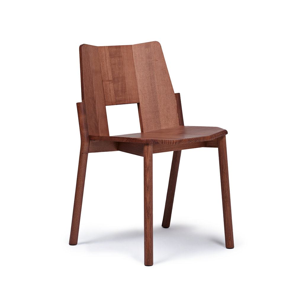 Mattiazzi MC12 Tronco Stacking Wooden Chair 窗口 實木單椅