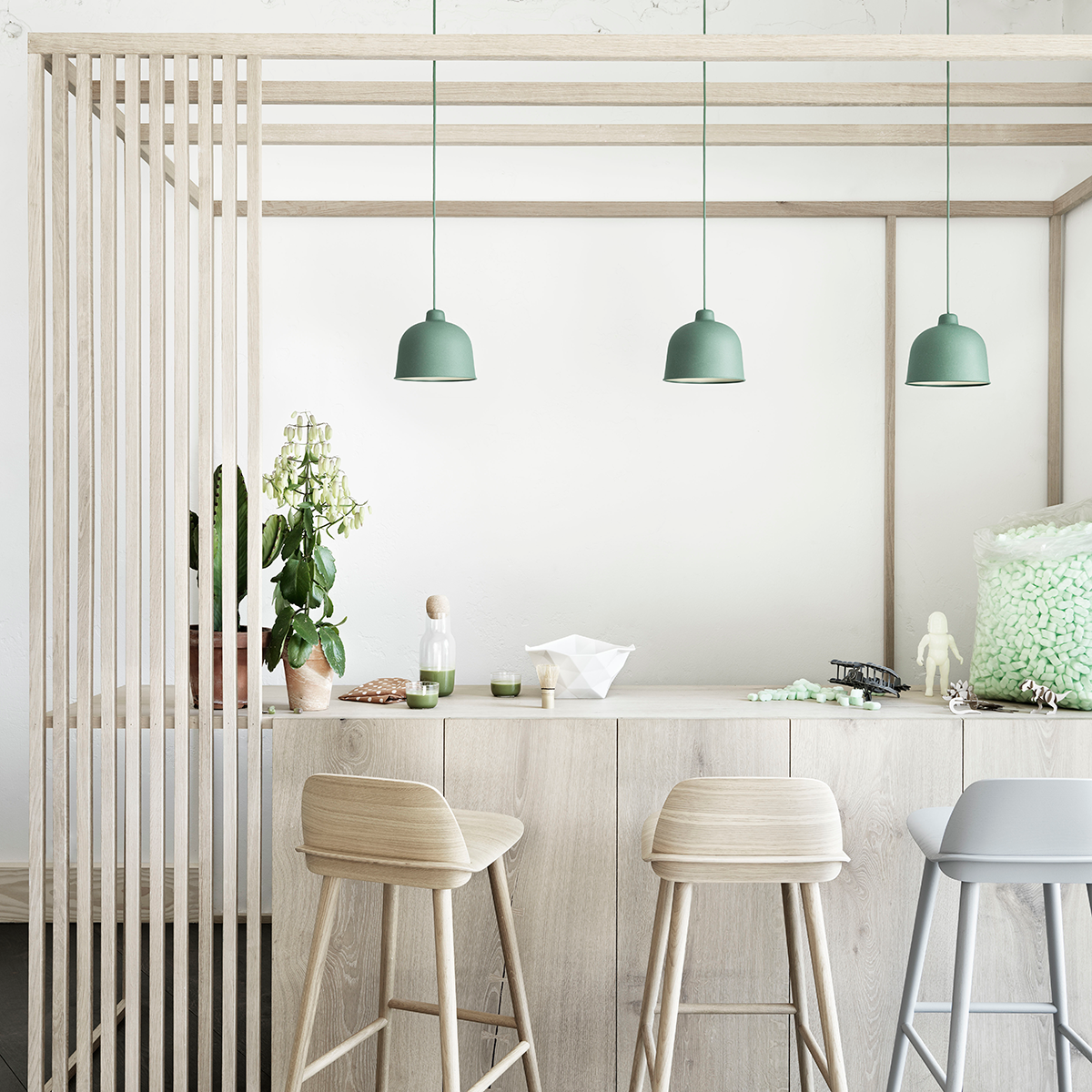 Muuto Grain Suspension Lamp 竹纖 圓頂 吊燈