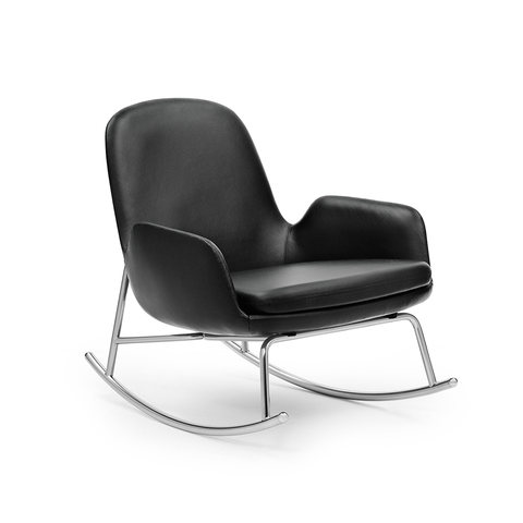 Normann Copenhagen Era Low Rocking Chair with Tango Leather 年代 低背 休閒搖椅 皮革包覆版