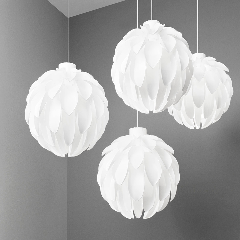 Normann Copenhagen Norm 12 Suspension Lamp 白色雕塑系列 果實 吊燈