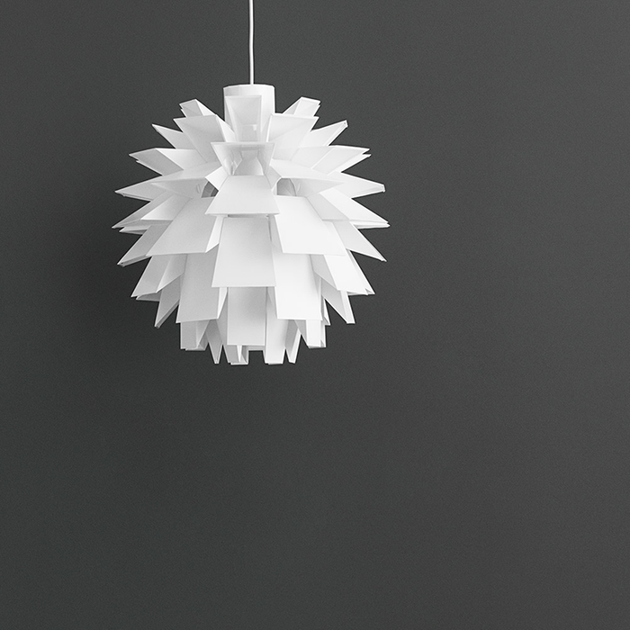 Normann Copenhagen Norm 69 Suspension Lamp 白色雕塑系列 葉果 吊燈