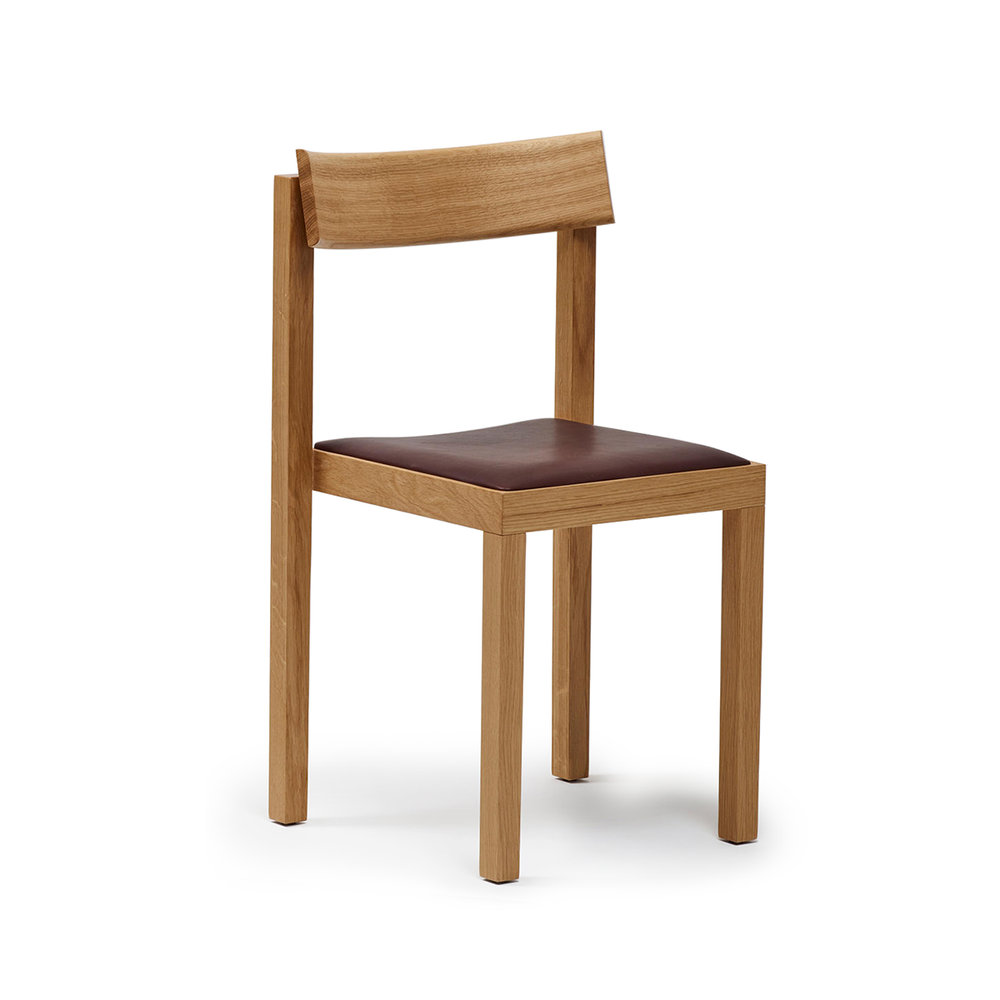 Mattiazzi MC14 Primo Wooden Dining Chair in Oak with Leather Cushion 頂尖系列 實木 單椅 / 餐椅 - 橡木系列&皮革座墊款